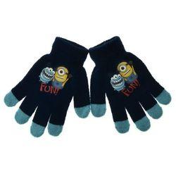 Rękawiczki dziecięce z postaciami z bajki Minionki - Granatowy