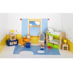 Mebelki do pokoju dziecka z łóżkiem piętrowym, 28 elementów