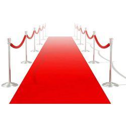 vidaXL Czerwony dywan 1 x 10 m Extra gęsty 400 g/m2 Darmowa wysyłka i zwroty