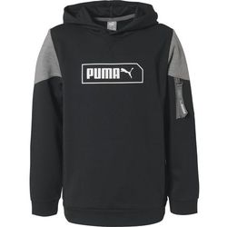 PUMA Bluza sportowa 'NU-TILITY' szary / czarny / biały
