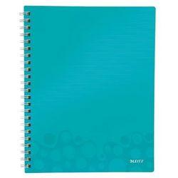 """Notatnik z przekładkami """"Get Organised"""" LEITZ WOW A4 w kratkę turkusowy"""