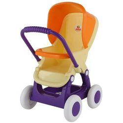 Wózek do lalek spacerowy 4-kołowy różowy