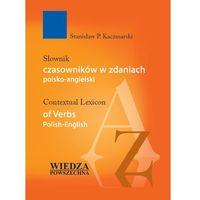 Książki do nauki języka, SŁ.CZASOWNIKÓW W ZDANIACH POL-ANG OP WP 9788321412313 (opr. twarda)
