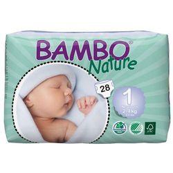 Eko Pieluszki Jednorazowe Newborn 2-4 kg (28szt.), Bambo Nature, ABENA