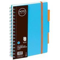 Zeszyty, Kołobrulion A5 100k. Grand NOTO Book z przekładkami niebieski
