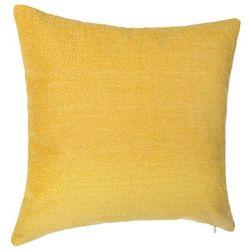 Poduszka dekoracyjna, kwadratowa, o wymiarach 40x40 cm, kolor żółty, uniwersalna ozdoba do każdego wnętrza, zdejmowana poszewka