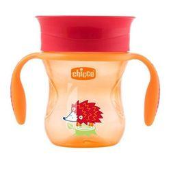 Chicco Kubek 360° do nauki samodzielnego picia 200 ml: Kolor - Pomarańczowy