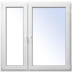 Okno PCV rozwierno-uchylne + rozwierne 1465 x 1435 mm lewe