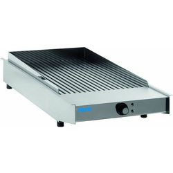 Płyta grillowa elektryczna ryflowana nastawna | 370x470mm | 4500W