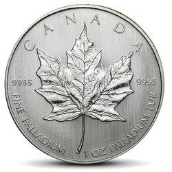Kanadyjski Liść Klonowy 1 uncja palladu - wysyłka 24 h!