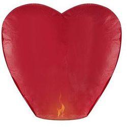 Lampion szczęścia - czerwone serce - 1 szt.