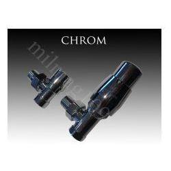 Zestaw zaworów grzejnikowych termostatycznych ROYAL kątowy CHROM