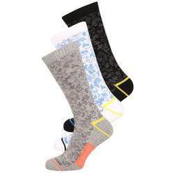 Converse 3 PACK Skarpety light grey melange/thunderwhite/soarblack