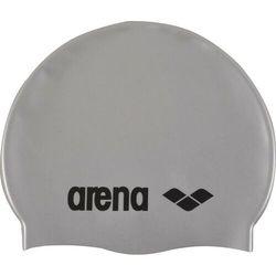 Czepek Arena Classic Silicone - silver/black Przy złożeniu zamówienia do godziny 16 ( od Pon. do Pt., wszystkie metody płatności z wyjątkiem przelewu bankowego), wysyłka odbędzie się tego samego dnia.
