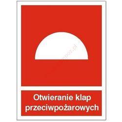 Znak Otwieranie klap przeciwpożarowych PB