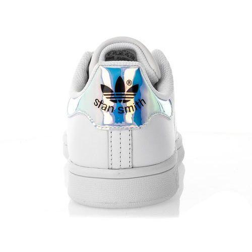 Damskie obuwie sportowe, Adidas STAN SMITH J 272 FOOTWEAR WHITE METALLIC SILVER FOOTWEAR WHITE - Buty Damskie Sneakersy