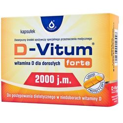 D-Vitum forte witamina D dla dorosłych D3 2000 j.m. 120 kapsułek Oleofarm