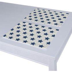 Dekoria Podkładka 2 sztuki, granatowe gwiazdy na białym tle, 30 × 40 cm, Ashley