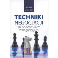Książki o biznesie i ekonomii, TECHNIKI NEGOCJACJI (opr. broszurowa)