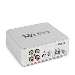 Power Dynamics PDX015 Przedwzmacniacz phono oprogramowanie port USB 2.0 kolor srebrny