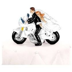 Figurka Młoda Para na motorze - 11,5 x 15 cm - 1 szt.