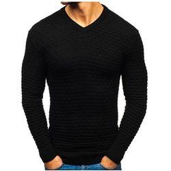 Sweter męski w serek czarny Denley 6005