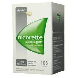 NICORETTE Classic 2mg x 105 gum IR (import równoległy)
