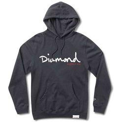 bluza DIAMOND - Og Script Hoodie Sp18 Navy (NVY) rozmiar: 2X