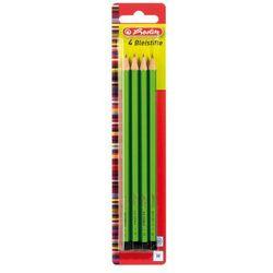 Ołówek drewniany H Scolair FSC 4 sztuki Herlitz - H
