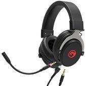 Marvo HG9052, słuchawki z mikrofonem, regulacja głośności, czarna, podświetlane na czerwono, USB 7.1 (virtual)
