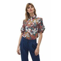 Wiskozowa bluzka w kwiaty - B134