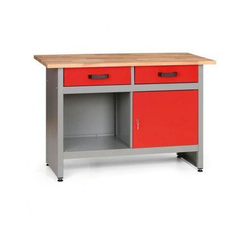 Stoły warsztatowe, Stół roboczy z szufladami, szafką i półką