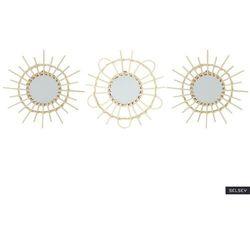 SELSEY Zestaw luster ściennych Gabyr rattanowych średnica 28 cm