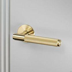 Klamka drzwiowa jednostronna Cross Fixed Mosiężna