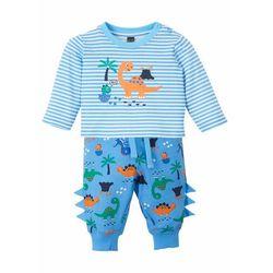 Shirt niemowlęcy + spodnie dresowe (2 części), bawełna organiczna bonprix niebieski niemowlęcy