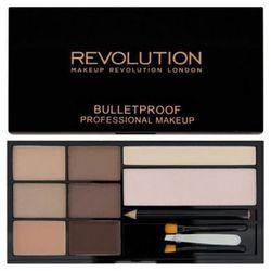 Makeup Revolution, Ultra Brow Palette. Paleta do makijażu brwi, Fair To Medium, 19g - Makeup Revolution