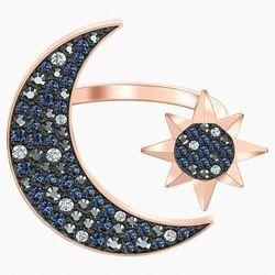 Pierścionek Moon z linii Swarovski Symbolic, wielokolorowy, w odcieniu różowego złota