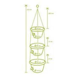 Donica z systemem nawadniania Siesta kaskada trio kość słoniowa