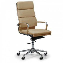 Krzesło biurowe KIT, skóra, capuccino