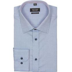 koszula bexley 2212 długi rękaw custom fit niebieski