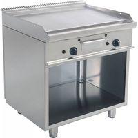 Grille gastronomiczne, Płyta grillowa gazowa gładka wolnostojąca | 790x530mm | 12000W