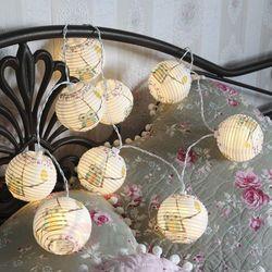 Łańcuch świetlny z latarni papierowych Sowa, z LED