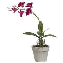 Sztuczny kwiat w donicy orchidea SIA MOPA – wysokość 33 cm – kolor fuksja