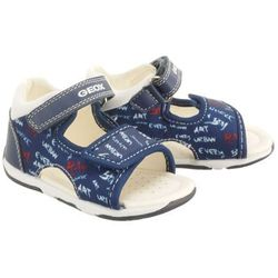 GEOX B920XA S.TAPUZ B. 0AW54 C4211 navy/white, sandały dziecięce, rozmiary: 20-25