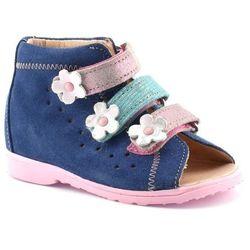 Buty profilaktyczne dla dzieci Dawid 1041 - Pudrowy róż ||Granatowy