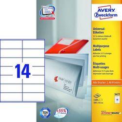 Etykiety uniwersalne Avery Zweckform 3477, 105x41mm