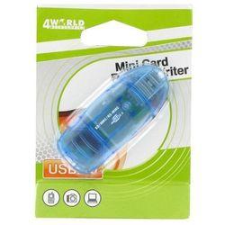 4world Czytnik kart pendrive SD/miniSD/MMC/T-Flash 03355 DARMOWA DOSTAWA DO 400 SALONÓW !!