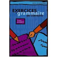 Książki do nauki języka, Exercices de grammaire en Contexte, Avance, podręcznik ( poziom zaawansowany) (opr. miękka)