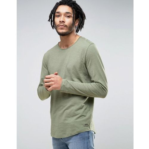 Koszulki z długim rękawem, Esprit Longline Long Sleeve Top - Green