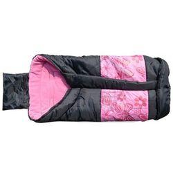 Śpiwór turystyczny kempingowy typu mumia dziecięcy 96x46 różowy